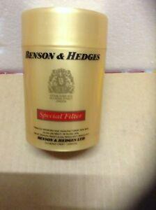 Vintage BENSON & HEDGES Special Filter Cigarette Storage Plastic Can