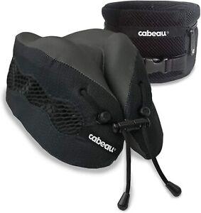 Cabeau Evolution Cool -Memory Foam Neck Pillow+ Air Vents+ Washable+ Bag, Black