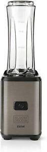 Black+Decker BXJBA350E Blender Of Beaker 300 W, 600 Ml. Stainless Steel 2 Cups