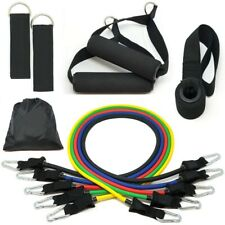 11PCS Resistance Bands Set Yoga Pilates Abs Exercise Fitness Tube Workout Bands