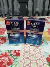 2 Clear Care Plus Cleanser Hydrogen Peroxide HydraGlyde 3 oz Exp 10/2020