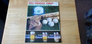 1982 Syracuse Chiefs Program Matts Labatts Toronto Blue Jays affiliate G. Bell