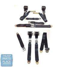 1978-88 GM G Body Cars Factory Style Front Bench & Rear Seat Belts - Black