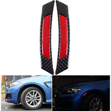 2x Red Super Car Door Sticker Reflective Tape Safety Warning Decal Universal