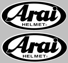 """(2) Arai Helmet Decals Stickers ATV Racing Dirtbike BLACK Pair of 3.5"""" Wide"""