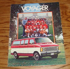 Original 1979 Plymouth Voyager Sales Brochure 79