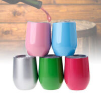 10oz Stainless Steel Thermal Cup Insulated Mug Egg-shape Drink Gift Portable