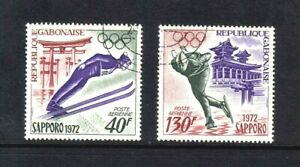 Gabon 1972 Winter Olympic Games, Sapporo, complete set of 2v. (SG 440-441) used