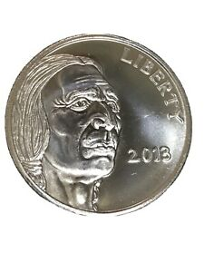 2013 INDIAN 1 OZ SILVER .999 FINE ONE OUNCE ROUND