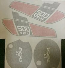 YAMAHA XT 500C XT 500 C 1976 MODEL FULL PAINTWORK DECAL KIT