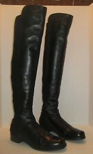 STUART WEITZMAN 5050 OVER THE KNEE LEATHER BOOT BLACK NAPPA SIZE 9.5 M $655+