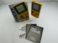 NINTENDO GAMEBOY COLOR  YELLOW HANDHELD WITH BOX