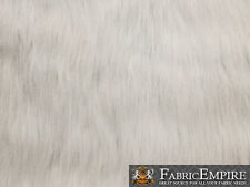 """Fake Faux Fur Long Pile Fabric ULTRA POLAR BEAR WHITE 60"""" Wide Sold by the yard"""