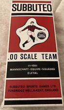Table Soccer 3D Team Hw Style Milan Repro Color Vintage Box Subbuteo