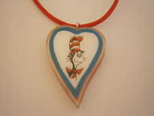 Cat In The Hat Dr. Seuss Plastic Pendant Necklace Red Satin Rope Universal Park