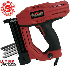 Lumberjack Nail & Stapler Gun Electric Heavy Duty Nailer Tacker 230V