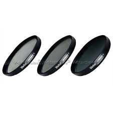 58mm UV CPL ND8 3 Piece Multi Coated Filter Kit for Canon HFS11 HFS100