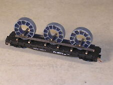 N Scale 50 foot Flat Cat with 3 turbine compressor parts