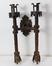 Europe Empire Antique Applike 19th Bronze Iron sconce candlesticks fetish Domina