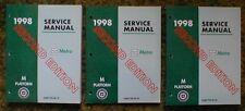 1998 Chevrolet Metro 2nd ed Service Repair Manuals 98