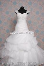 1389 White Ivory Wedding Dresses dress paulette coset lace up back cap sleeves
