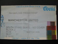 Chelsea et Manchester United 26/12/1994 used ticket