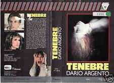 Tenebre (1982) VHS rara Argento CHV