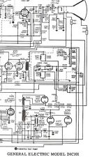 Sams Service Schematic for General Electric 24C101, SPARTON 5170 5171 Television