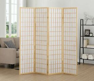 4 Panel Natural Oriental Shoji Screen / Room Divider