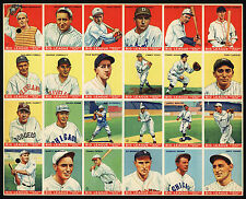 1933 World Wide Gum Canadian Goudey Uncut Sheet: Jimmie Foxx and 6 other HOF'ers