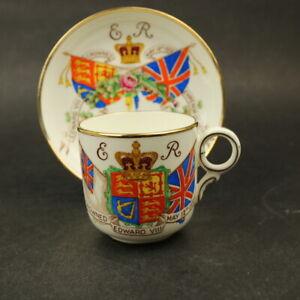 Hammersley Hand Painted Edward VIII 1937 Coronation Cup & Saucer