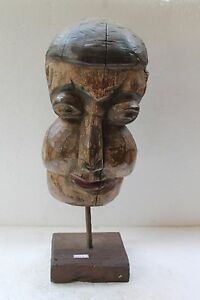 Antique Original Wooden Unique Style Tribal Folk Face Wall Hanging Mask NH3498