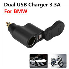 3.3A Dual USB Charger Adapter Cigar Lighter Socket Waterproof For BMW Hella Din