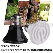 25-250W Infrared Ceramic Emitter Heat Lamp Light Bulb for Reptile Pet Brooder
