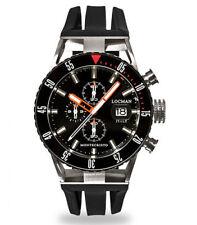 Locman Montecristo Diver Men's Watch Chronograph Titanium Steel rubber sole 512