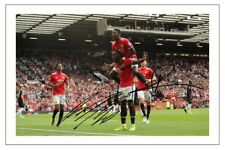 ROMELU LUKAKU PAUL POGBA MANCHESTER UNITED AUTOGRAPH SIGNED PHOTO PRINT SOCCER