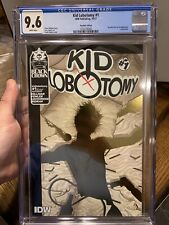 CGC Graded 9.6 Kid Lobotomy #1 IDW 2017 Recalled Edition. Misplaced Gold Foil
