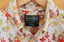 Gitman Bros vintage lapin et champignon chemise-taille moyenne