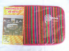 Brand New From Peru Cotton Blended Pack Of 6 Dish Table Placemats - Deep Pink