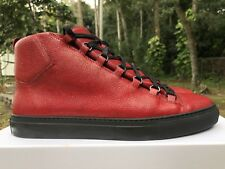 Balenciaga Leather High Arena Stingray Red Black Sneaker Size: 44 Rouge Cerise