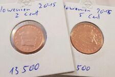 Slowenien 2 + 5 Cent 2015 - Euro Kursmünzen - kleine Auflage -