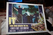 1955 Original Movie Lobby Card It Came from Beneath the Sea Horror Monster Film