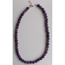 Collier Amethyste du Bresil boules 8 mm violet