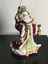 Fitz and Floyd Damask Holiday Santa Bell w/Dated Tag 2011, New in Box