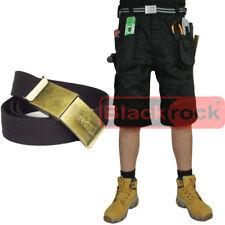 Blackrock Workman Work Shorts Cargo Combat Trousers 65 Polyester 35 Cotton 42 In. Black