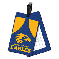 West Coast Eagles AFL Rubber Luggage Tag For Travel Holiday Suit Case Bag Gift