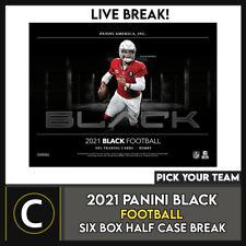 2021 Caja de 6 de fútbol PANINI (medio BLACK caso) romper #F792 - Elige Tu Equipo