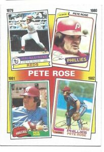 2 Cards - 1986 Topps The Pete Rose Years - Card #6, & #7