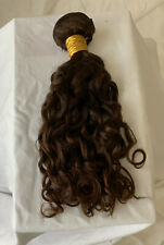 """Runature 12"""" Weft Bundle Curly Extensions Human Hair Auburn Sew in Short"""