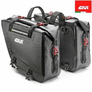 COUPLE SIDE SOFT BAGS WATERPROOF GIVI GRT718 MOTORBIKE ENDURO 15 + 15 LITERS